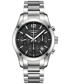 Longines Men's Swiss Automatic Chronograph Conquest Classic Stainless Steel Bracelet Watch 41mm L27864566