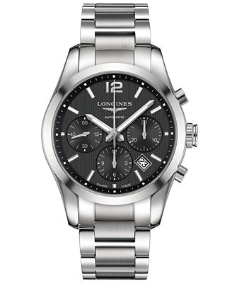 Longines Men's Swiss Automatic Chronograph Conquest ...
