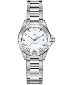Women's Swiss Aquaracer Diamond Accent Stainless Steel Bracelet Watch 27mm