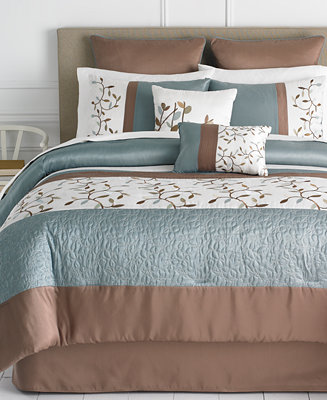 Closeout Woodbury 8 Piece Comforter Sets Bed In A Bag