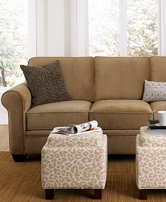remo fabric sofa living room furniture collection - furniture - macy's