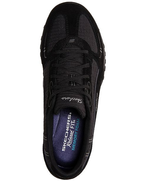 9a192f03383a1 ... Skechers Women's Relaxed Fit Breathe Easy Just Relax Memory Foam Casual  Sneakers from Finish ...