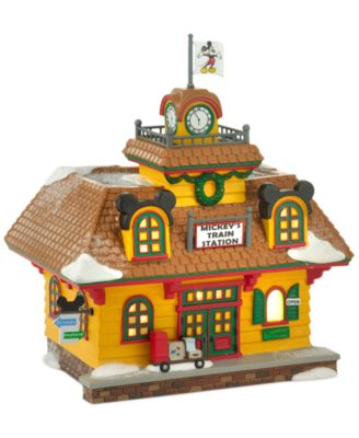 Mickey's Village Holiday Train Station Collectible Figurine