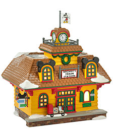 Department 56 Mickey's Village Holiday Train Station Collectible Figurine