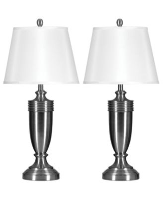 StyleCraft Set of 2 Brushed Steel Table Lamps - Lighting & Lamps ...