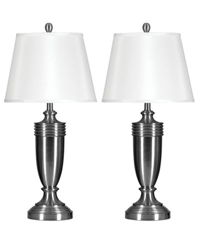 Stylecraft set of 2 brushed steel table lamps lighting lamps stylecraft set of 2 brushed steel table lamps aloadofball Image collections