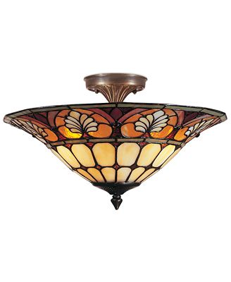 Dale tiffany semi flush mount ceiling fixture