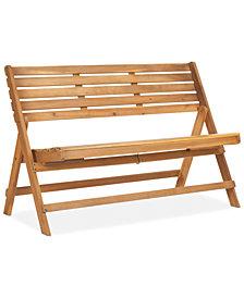 Wilson Outdoor Wood Bench, Quick Ship