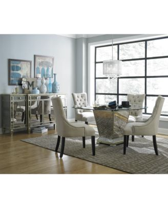Furniture Marais Dining Room Furniture 7 Piece Set (60  Mirrored Dining Table and 6 Chairs) - Furniture - Macyu0027s  sc 1 st  Macyu0027s : dining set with 6 chairs - Cheerinfomania.Com