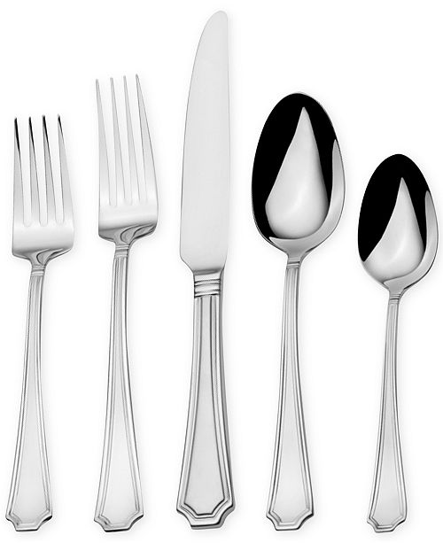 Towle Everyday Harper Frost 82-Pc Flatware Set, Service for 16
