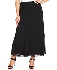 Plus Size Chiffon Maxi Skirt