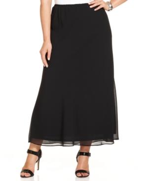 Msk Plus Size Chiffon Maxi Skirt plus size,  plus size fashion plus size appare