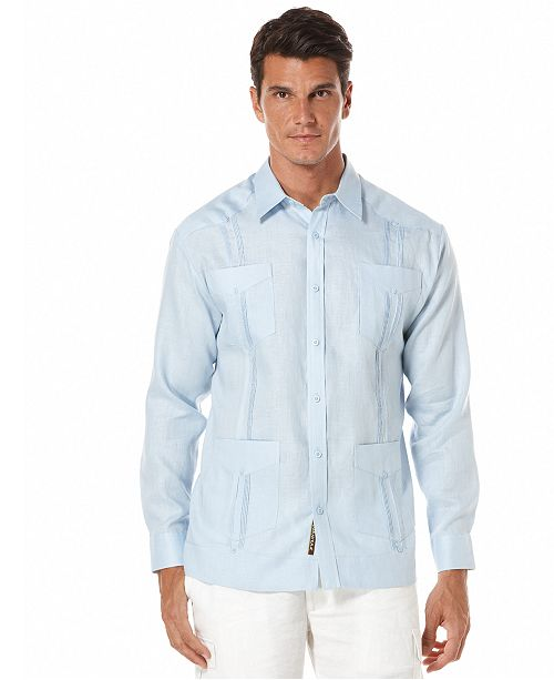 664ce35bbc Cubavera 100% Linen Long Sleeve Guayabera Shirt   Reviews - Casual ...