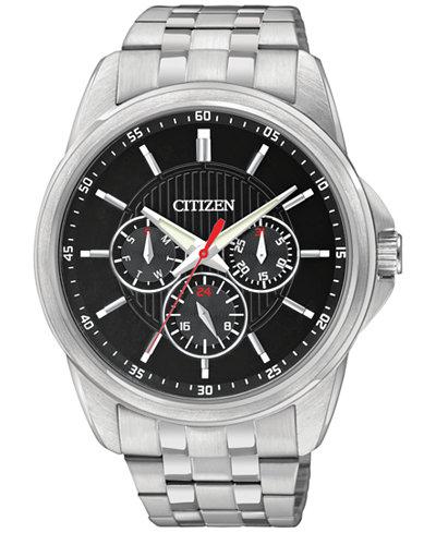 citizen mens stainless steel bracelet watch 42mm ag8340