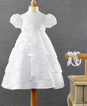 Lauren Madison Baby Girls 2Piece Headband  Crisscross Christening Dress Set
