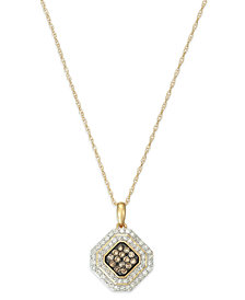 Wrapped in Love™ White and Brown Diamond Pendant Necklace in 14k Gold (1/2 ct. t.w.), Created for Macy's