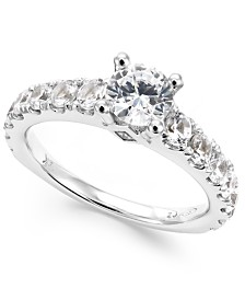 Diamond Engagement Ring in 14k White Gold (2 ct. t.w.)