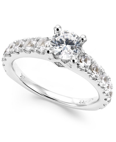 Certified Diamond Engagement Ring in 14k White Gold (2 ct. t.w.)