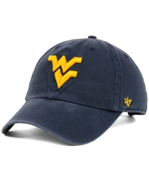 47 Brand West Virginia Mountaineers Ncaa Clean-Up Cap