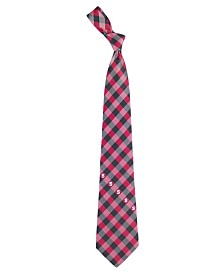Eagles Wings North Carolina State Wolfpack Checked Tie