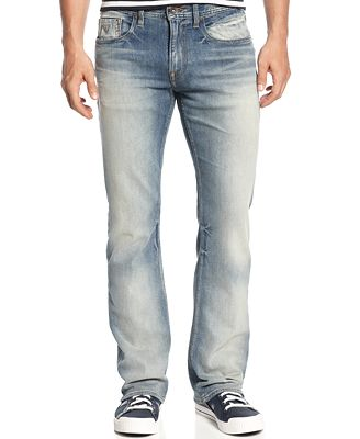 GUESS Men's Regular-Fit Arlington-Wash Bootcut Jeans - Jeans - Men
