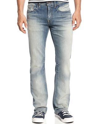 GUESS Men's Regular-Fit Arlington-Wash Bootcut Jeans - Jeans - Men ...