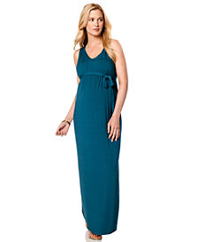 A Pea In The Pod Sleeveless Belted Maternity Maxi Dress
