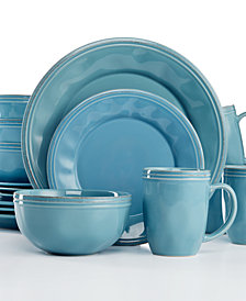Rachael Ray Cucina Agave Blue 16-Pc. Set Service for 4  sc 1 st  Macyu0027s & Rachael Ray Dinnerware Sets and Fine China - Macyu0027s