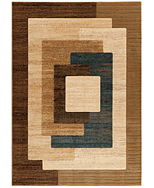 "CLOSEOUT! Kenneth Mink Northport OSB101 Blue 2'3"" x 7'7"" Runner Rug"