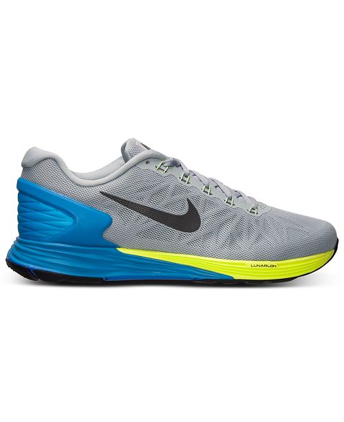 e96d9a8cfe8cd order nike mens lunarglide 6 running sneakers from finish line finish line  athletic shoes men macys
