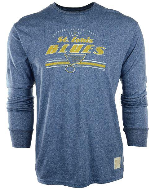 Retro Brand Men's Long-Sleeve St. Louis Blues T-Shirt
