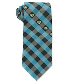 Eagles Wings Jacksonville Jaguars Checked Tie
