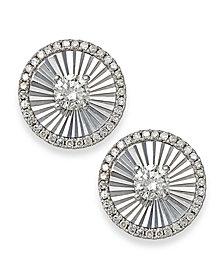 Diamond Shimmer Stud Earrings in 14k White Gold (1/6 ct. t.w.)