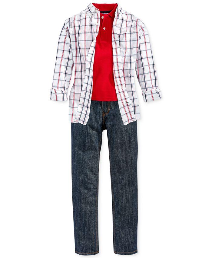 Tommy Hilfiger - Boys' Polo, Shirt & Jeans