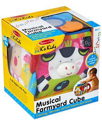 Melissa and Doug Kids' Musical Farmyard Cube Toy
