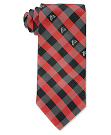 Eagles Wings Atlanta Falcons Checked Tie