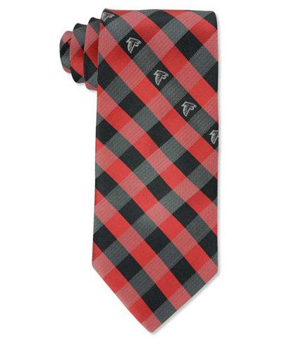 Eagles Wings Atlanta Falcons Checked Tie