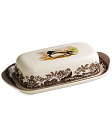 Spode Woodland Mallard Covered Butter Dish