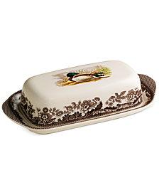 Spode Woodland Mallard Covered Butter Dish