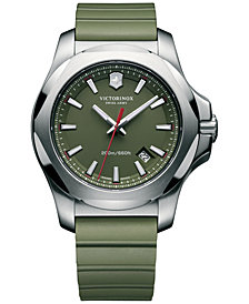 Victorinox Swiss Army Men's I.N.O.X. Green Rubber Strap Watch 43mm 241683.1