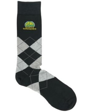 For Bare Feet Seattle SuperSonics Argyle Dress Socks