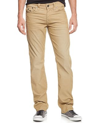 True Religion Men's Ricky Relaxed Straight Fit Corduroy Pants ...