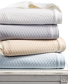 LAST ACT! Quilted Triple Knit Blankets, Created for Macy's