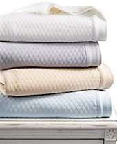 CLOSEOUT! Martha Stewart Collection Quilted Triple Knit Full/Queen Blanket, Created for Macy's