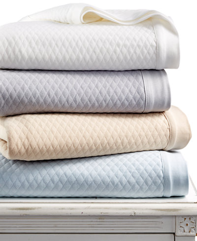 LAST ACT! Martha Stewart Collection Quilted Triple Knit Blankets, Created for Macy's