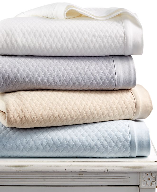 Martha Stewart Collection LAST ACT! Quilted Triple Knit Twin Blanket, Created for Macy's