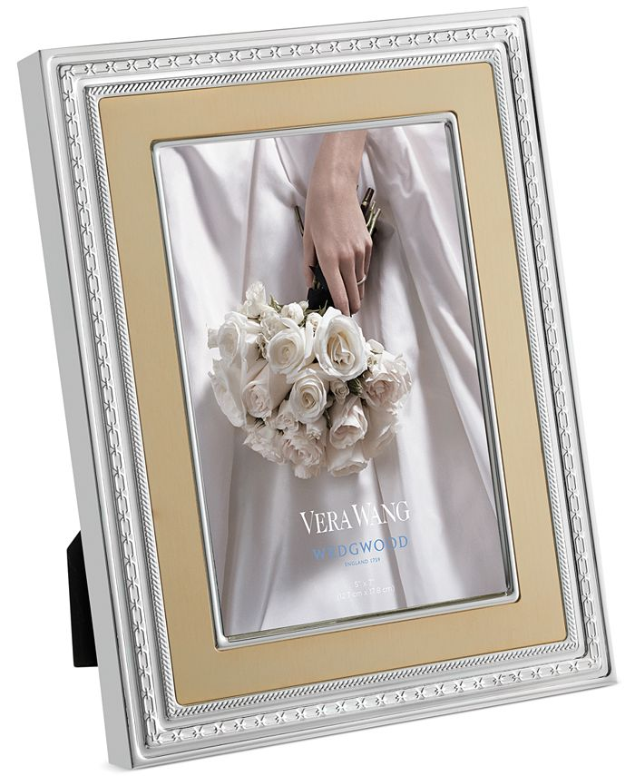 """Vera Wang Wedgwood - With Love Gold 5""""x 7"""" Frame"""