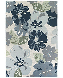 "Couristan Indoor/Outdoor Runner Rug, Dolce 4055/0234 Novella Grey 2'3"" x 7'10"""