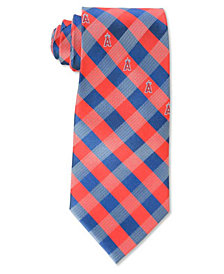 Eagles Wings Los Angeles Angels of Anaheim Checked Tie