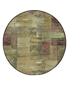 Oriental Weavers Round Area Rug, Generations 1527X Dreamscape 6'
